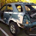 Задержан пьяный водитель на разукомплектованном автомобиле